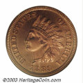 Proof Indian Cents: , 1883 1C PR67 Red Cameo NGC. The 1883 Indian Cent is a ...