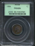 Proof Indian Cents: , 1884 1C PR66 Brown PCGS. Incandescent purples and greens ...