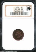 Proof Indian Cents: , 1884 1C PR66 Red and Brown NGC. Eagle Eye Photo Seal (...