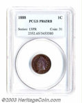 Proof Indian Cents: , 1888 1C PR65 Red and Brown PCGS. Snow-1. The base of the ...
