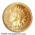 Proof Indian Cents: , 1893 1C PR66 Red PCGS. Nicely mirrored with attractive ...