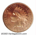 Proof Indian Cents: , 1895 1C PR66 Red PCGS. Eagle Eye Photo Seal (card not ...