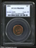 Proof Indian Cents: , 1896 1C PR65 Red PCGS. Iridescent cherry-red and gold ...