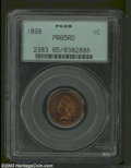 Proof Indian Cents: , 1898 1C PR65 Red PCGS. Burnt orange color with crimson ...