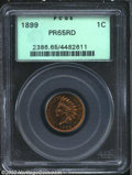 Proof Indian Cents: , 1899 1C PR65 Red PCGS. The fields have luminous orange-...