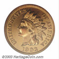 Proof Indian Cents: , 1903 1C PR66 Red PCGS. Eagle Eye Photo Seal. A wondrous ...