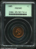 Proof Indian Cents: , 1905 1C PR65 Red PCGS. Brilliant subdued cherry luster ...