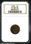 Proof Indian Cents: , 1905 1C PR65 Red NGC. Blazing red with some flashes of ...