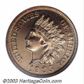 Proof Indian Cents: , 1905 1C PR66 Red PCGS. This is a later die state as it ...