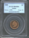 Proof Indian Cents: , 1909 1C PR65 Red PCGS. Slightly dark red surfaces with a ...