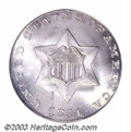 Three Cent Silver: , 1851 3CS MS67 PCGS. An outstanding example of this very ...