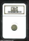 Three Cent Silver: , 1858 3CS MS64 NGC. Fully lustrous and bright with an ...
