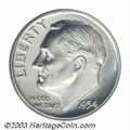 Proof Roosevelt Dimes: , 1954 10C PR69 Cameo PCGS. This silver-white Superb Gem is ...