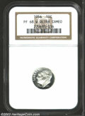 Proof Roosevelt Dimes: , 1956 10C PR68 Deep Cameo NGC. Monumentally struck, and ...
