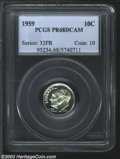 Proof Roosevelt Dimes: , 1959 10C PR68 Deep Cameo PCGS. The most intricate details ...