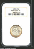 Seated Quarters: , 1855 25C Arrows MS64 NGC. A bright and lustrous example ...