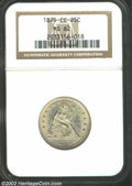Seated Quarters: , 1875-CC 25C MS62 NGC. A trifle short on luster with some ...