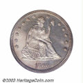 Proof Seated Quarters: , 1860 25C PR65 PCGS. Even though 1,000 proofs were struck ...