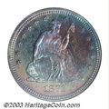 Proof Seated Quarters: , 1871 25C PR67 NGC. Briggs 1-A. According to both Larry ...