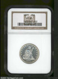 Proof Seated Quarters: , 1877 25C PR65 NGC. An attractive and lustrous Gem. A ...