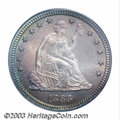 Proof Seated Quarters: , 1883 25C PR66 Cameo PCGS. A very scarce and always-...