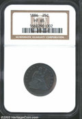 Proof Seated Quarters: , 1886 25C PR65 NGC. Dark purple surfaces with lustrous ...