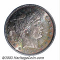 Barber Quarters: , 1894-S 25C MS66 PCGS. An essentially full strike with ...