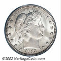 Barber Quarters: , 1913 25C MS65 PCGS. The 1913 is a low mintage issue with ...