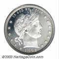 Proof Barber Quarters: , 1892 25C PR66 Deep Cameo PCGS. A rich cameo effect is ...