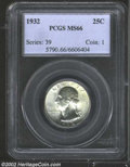 Washington Quarters: , 1932 25C MS66 PCGS. Extremely bright and untoned with the ...
