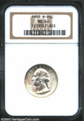 Washington Quarters: , 1932-S 25C MS64 NGC. The margins have blushes of pale ...
