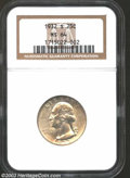 Washington Quarters: , 1932-S 25C MS64 NGC. Highly lustrous and lightly toned ...