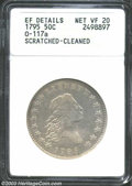 Early Half Dollars: , 1795 50C --Scratched, Cleaned--ANACS, XF Details, Net VF20.