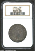 Early Half Dollars: , 1801 50C VF30 NGC. O-102, R.4. Boldly defined for the ...