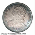 Bust Half Dollars: , 1813 50C MS64 NGC. O-109, R.3. Attractive rose-gray and ...