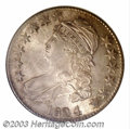 Bust Half Dollars: , 1824/4 50C MS66 NGC. O-110, R.2. On this later die state, ...