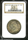 Bust Half Dollars: , 1828 50C Square 2, Small 8, Large Letters MS61 NGC. O-113,...