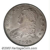1829/7 50C MS64 NGC. Ex: Eliasberg. O-102, R.3. If you missed the Queller 1829/7 overdate, here is a second chance to pu...