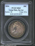 Bust Half Dollars: , 1834 50C Large Date, Small Letters MS63 PCGS. O-106, R.1. ...