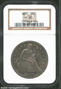 Seated Dollars: , 1855 $1 VF20 NGC. Scarce in all grades with a mintage of ...