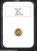 Commemorative Gold: , 1903 G$1 Louisiana Purchase/Jefferson MS64 NGC. A ...