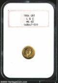 Commemorative Gold: , 1904 G$1 Lewis and Clark MS63 NGC. Semi-prooflike ...