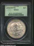 Commemorative Silver: , 1900 $1 Lafayette Dollar MS63 PCGS. DuVall 1-B. Light ...