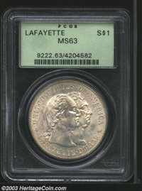 1900 $1 Lafayette Dollar MS63 PCGS. DuVall 1-B. Light tan-gold patina. A well struck commemorative with pleasing satiny...