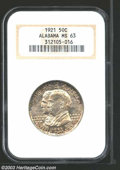 Commemorative Silver: , 1921 50C Alabama MS63 NGC. A highly attractive Choice ...