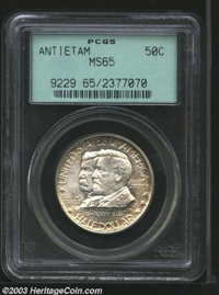 1937 50C Antietam MS65 PCGS. A richly lustrous example with untoned centers and very lightly toned rims. No marks of not...