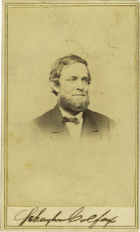 Schuyler Colfax Signed Carte de Visite. 17th Vice President of the United States under Ulysses S. Grant. He was Speaker...
