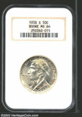 Commemorative Silver: , 1938-S 50C Boone MS66 NGC. A bright, clean, and original ...