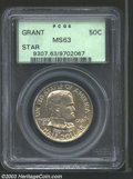 Commemorative Silver: , 1922 50C Grant with Star MS63 PCGS. A grey-gold example ...