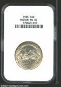 1935 50C Hudson MS64 NGC. An original and flashy example with light toning over both sides. Scattered marks are seen, bu...
